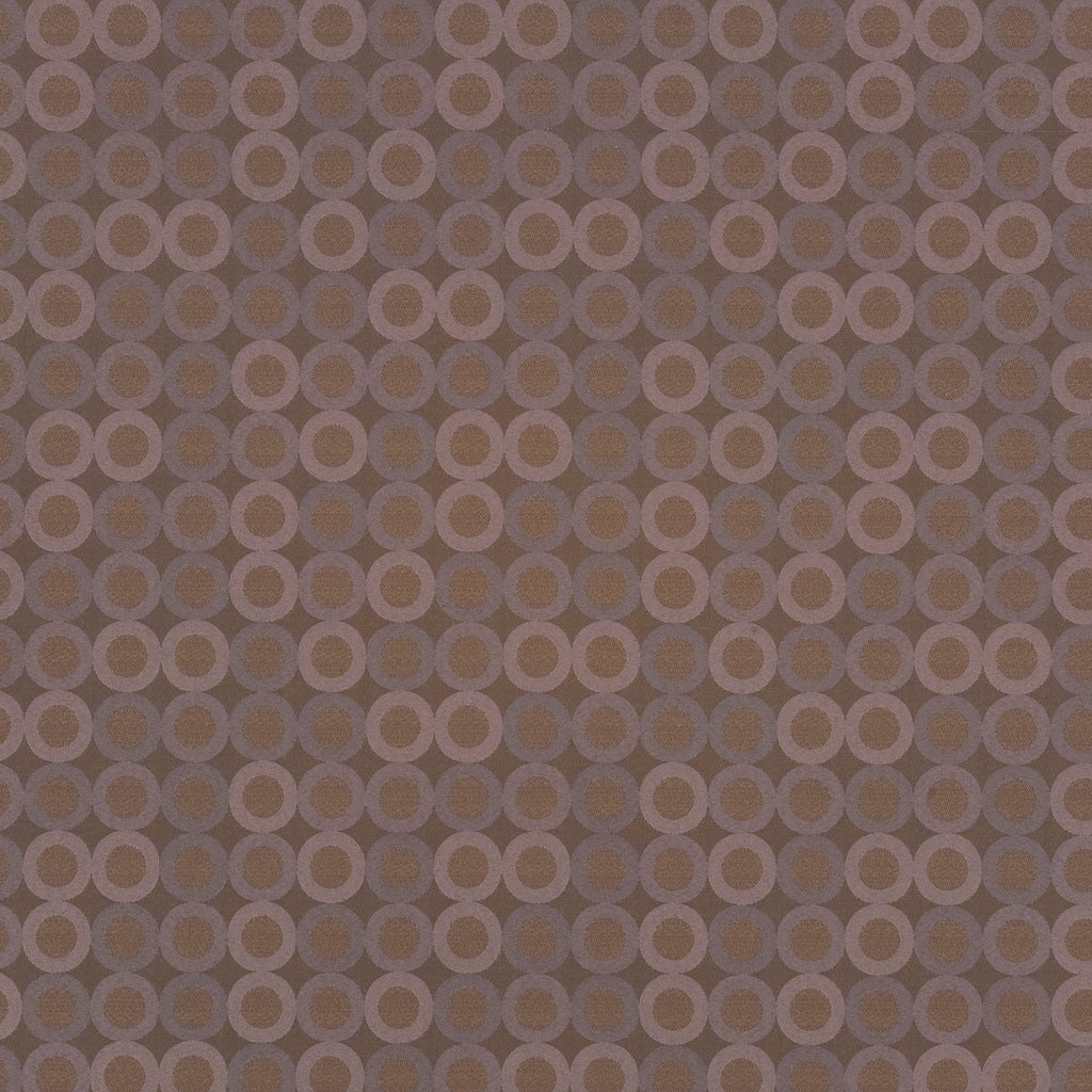 Roundabout Parade Brown Chocolate Curvilinear Woven Flat Upholstery Fabric
