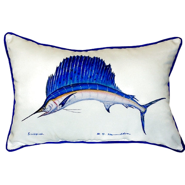 Sailfish Small Indoor or Outdoor Pillow 11x14