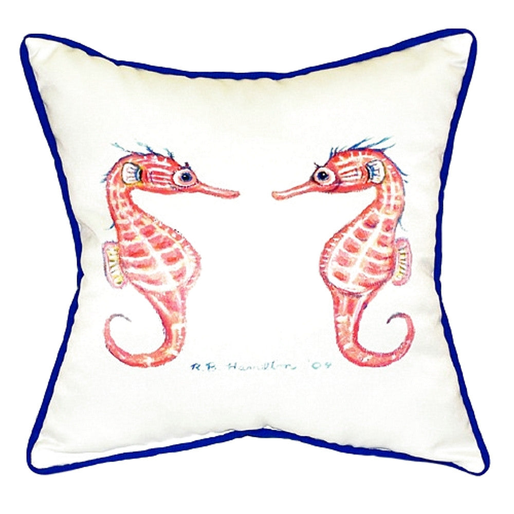 Sea Horses Small Outdoor or Indoor Pillow 12x12