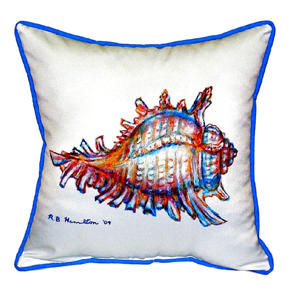 Conch Shell Small Outdoor or Indoor Pillow 12x12