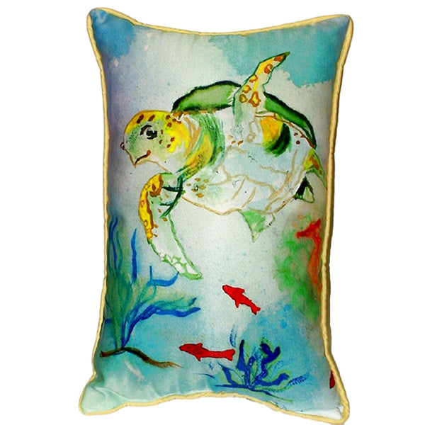 Betsy's Sea Turtle Small Outdoor/Indoor Pillow 8x14
