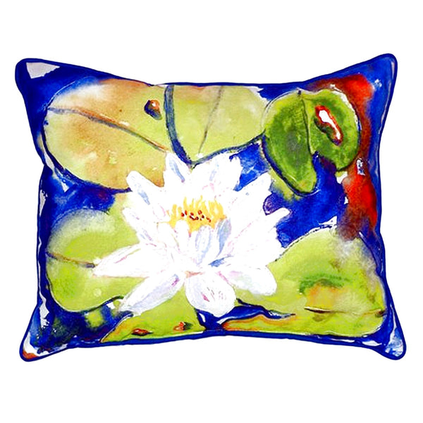 Lily Pad Flower Small Indoor or Outdoor Pillow 11x14