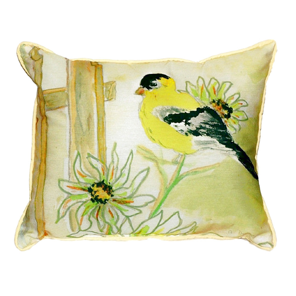 Goldfinch Small Outdoor or Indoor Pillow 11x14