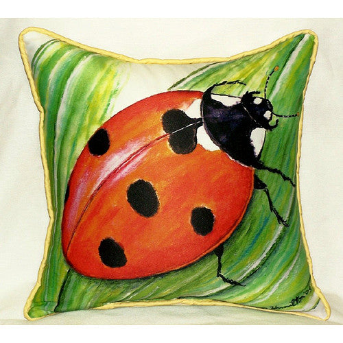 Ladybug Small Indoor or Outdoor Pillow 12x12