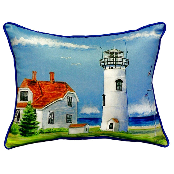 Chatham MA Lighthouse Small Outdoor or Indoor Pillow 12x12