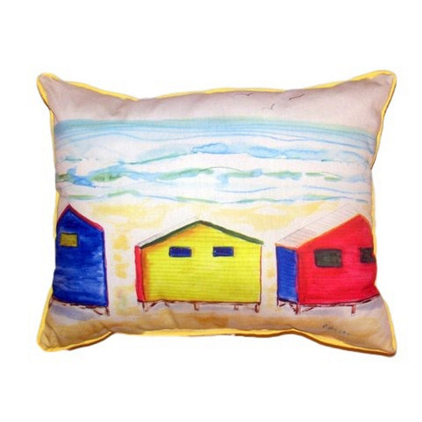 Beach Bungalows Small Indoor or Outdoor Pillow 11x14
