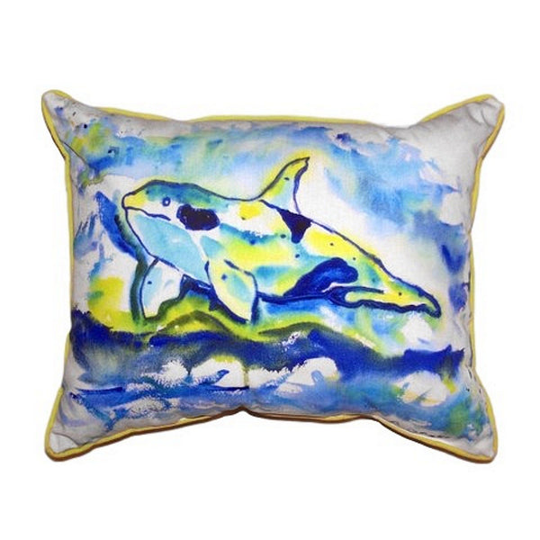 Orca Small Indoor or Outdoor Pillow 11x14