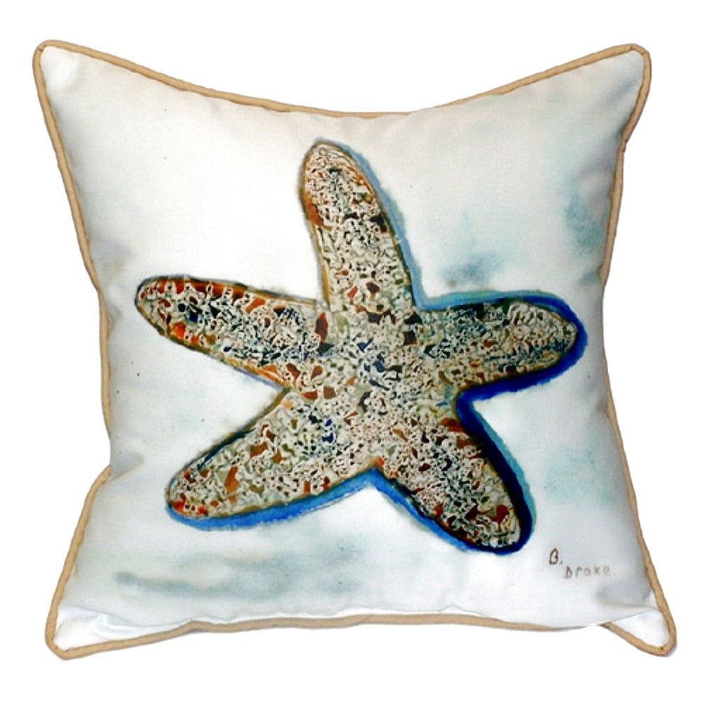 Starfish Small Outdoor or Indoor Pillow 12x12