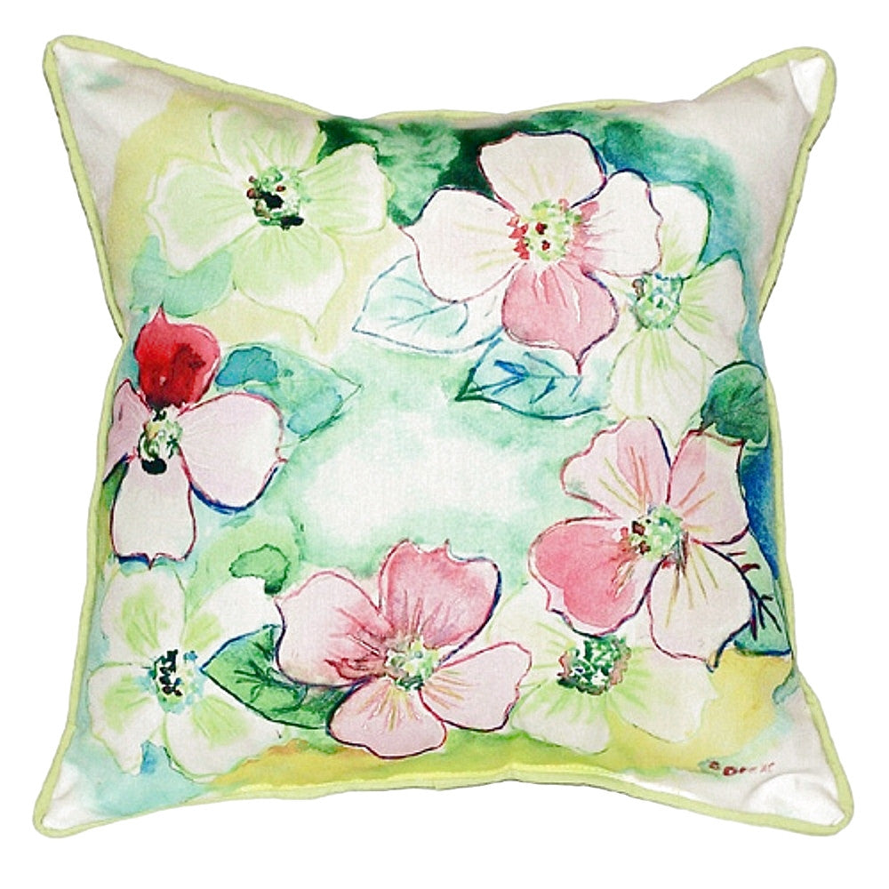 Flower Wreath Small Indoor or Outdoor Pillow