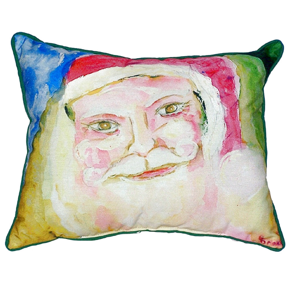 Santa's Face Small Indoor or Outdoor Pillow
