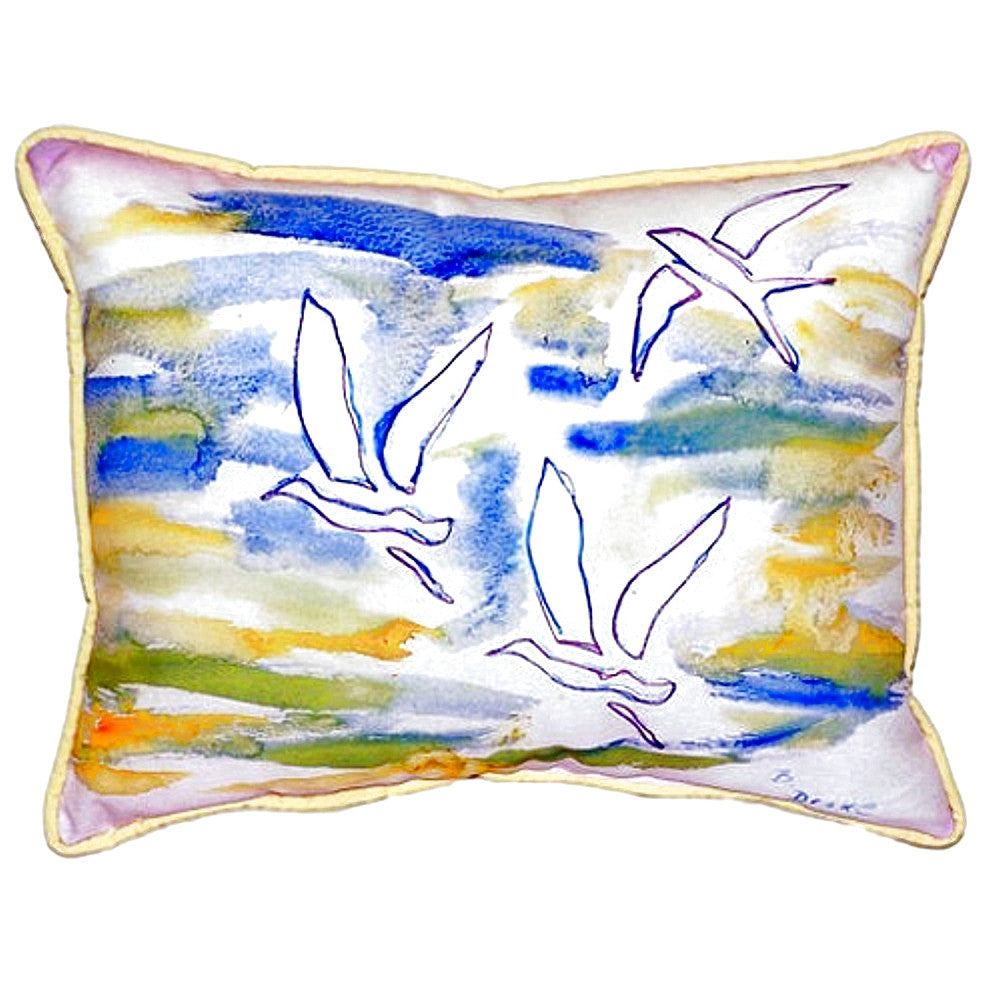 Three Gulls Small Indoor or Outdoor Pillow 11x14