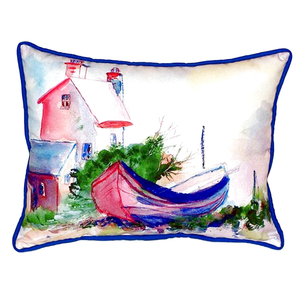 House & Boat Small Indoor or Outdoor Pillow 11x14