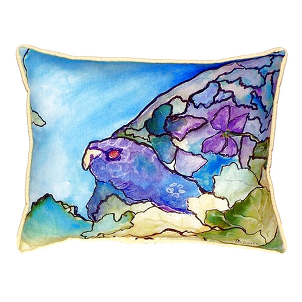 Purple Turtle Small Outdoor or Indoor Pillow 11x14