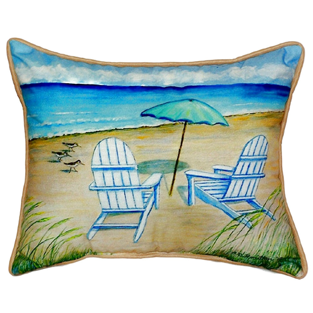 Adirondack Chairs Small Outdoor or Indoor Pillow 11x14