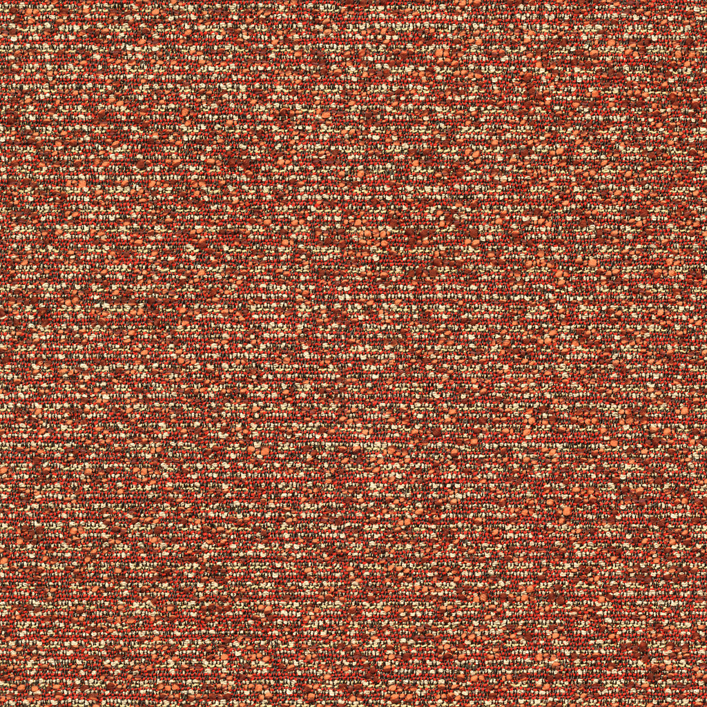 Soho Thompson Red Brown True Red Tan Beige Solid Woven Texture Upholstery Fabric
