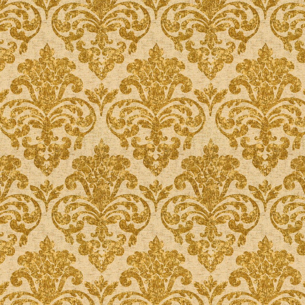 Solo Mio Como Yellow Yellow Gold Gold Leaves Floral Woven Chen Upholstery Fabric