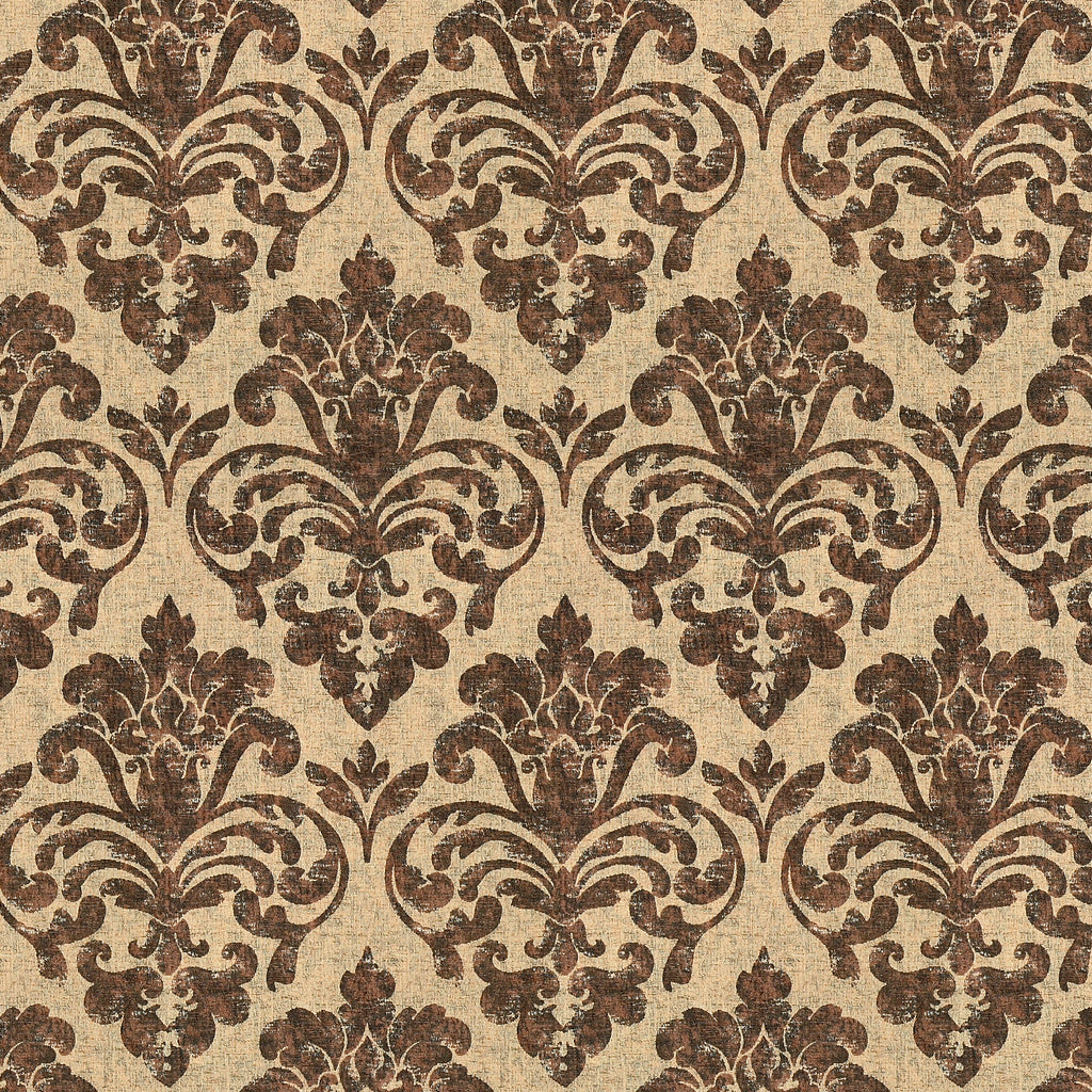 Solo Mio Martin Brown Brown Leaves Floral Woven Chenile Upholstery Fabric