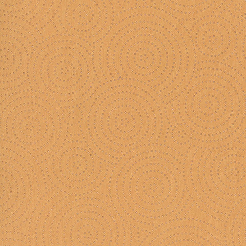 Swirl Jupiter Yellow Gold Curvilinear Faux Leather Upholstery Fabric