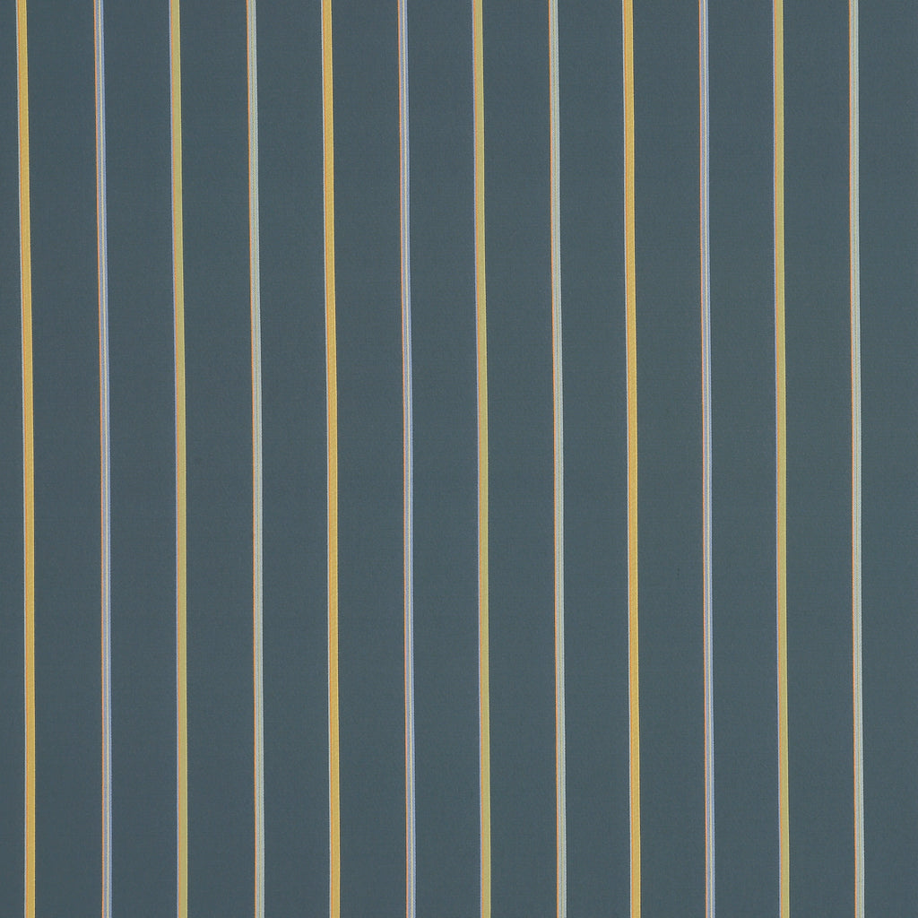 The Street Teal Blue Yellow True Blue Gold Stripe Woven Flat Upholstery Fabric
