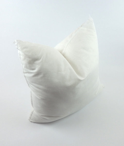 Premium Down Alternative Decorative Pillow Insert Form with 100% Cotton Cover and  Hypoallergenic Fill, Made in America