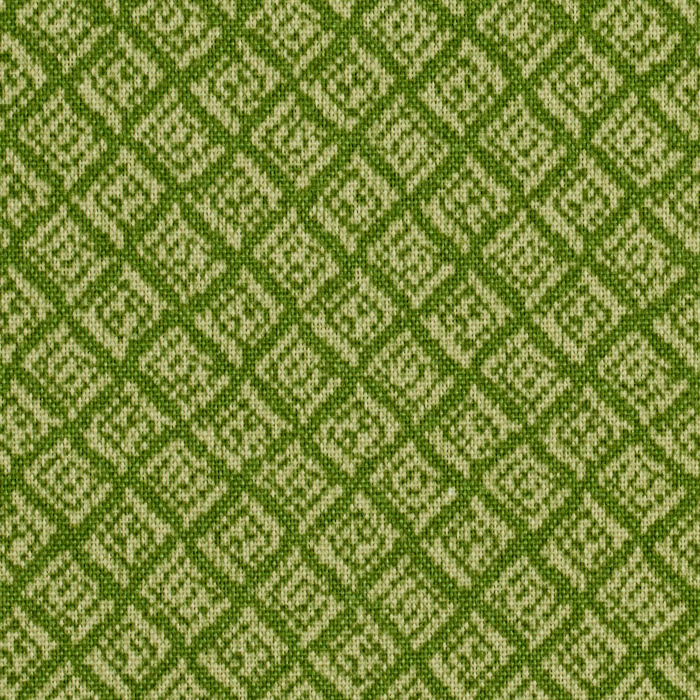 Citron Green Small Abstract Diamond Scale Print Upholstery Fabric