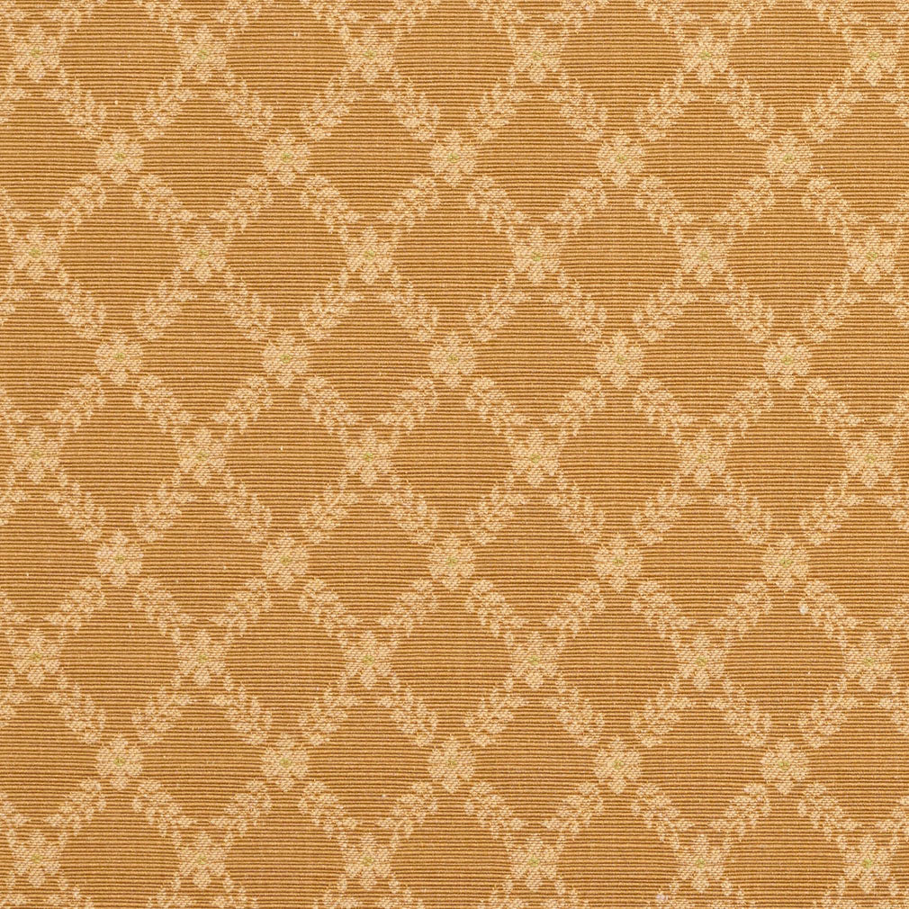 Beige Tan Diamond Abstract Damask Upholstery Fabric