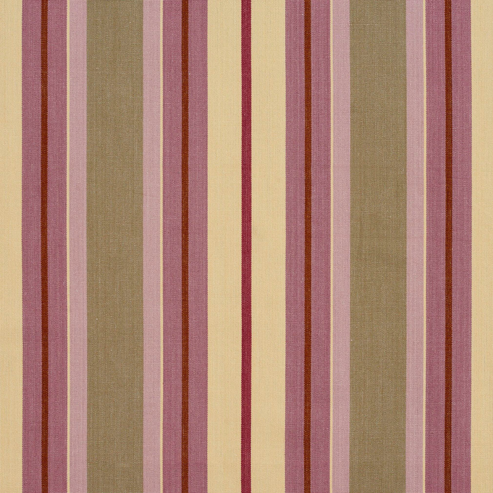 Beige and Pink Contemporary Small Stripe Denim All Cotton Upholstery Fabric