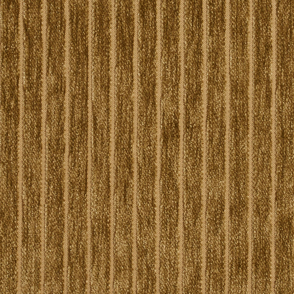 Olive Green Small Scale Stripe Texture Chenille Upholstery Fabric