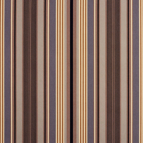 Beige Grey and Black Small Retro Modern Stripe Contemporary Print 100% Cotton Up