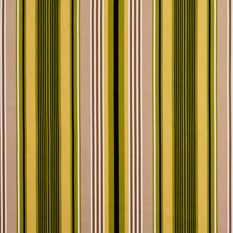 Beige Green and Black Small Retro Modern Stripe Contemporary Print 100% Cotton U