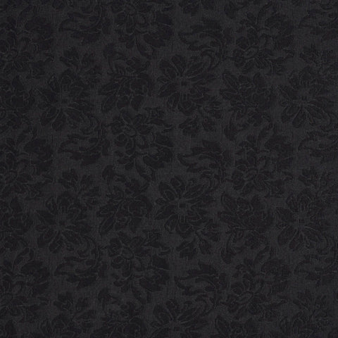Black Floral Brocade Upholstery Fabric