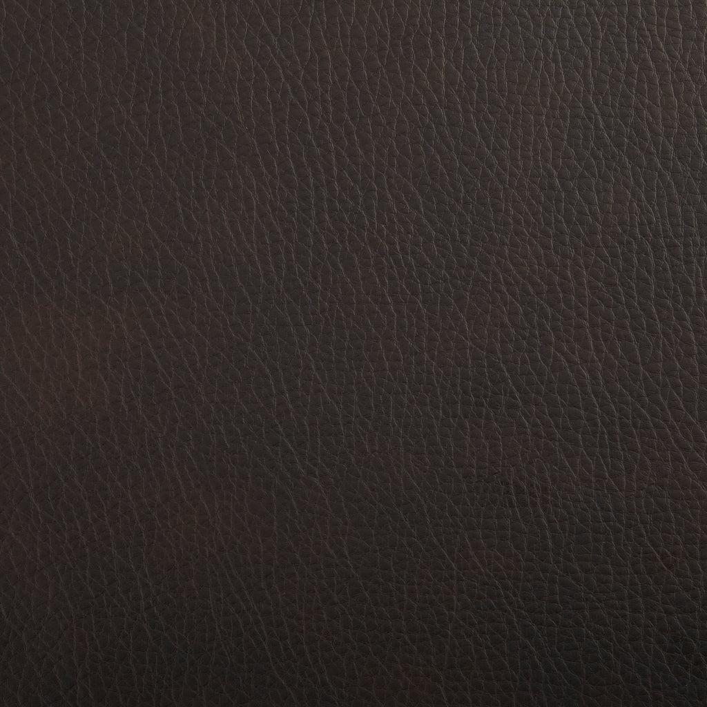 Arabica Black Leather Grain Plain Solid Vinyl Upholstery Fabric