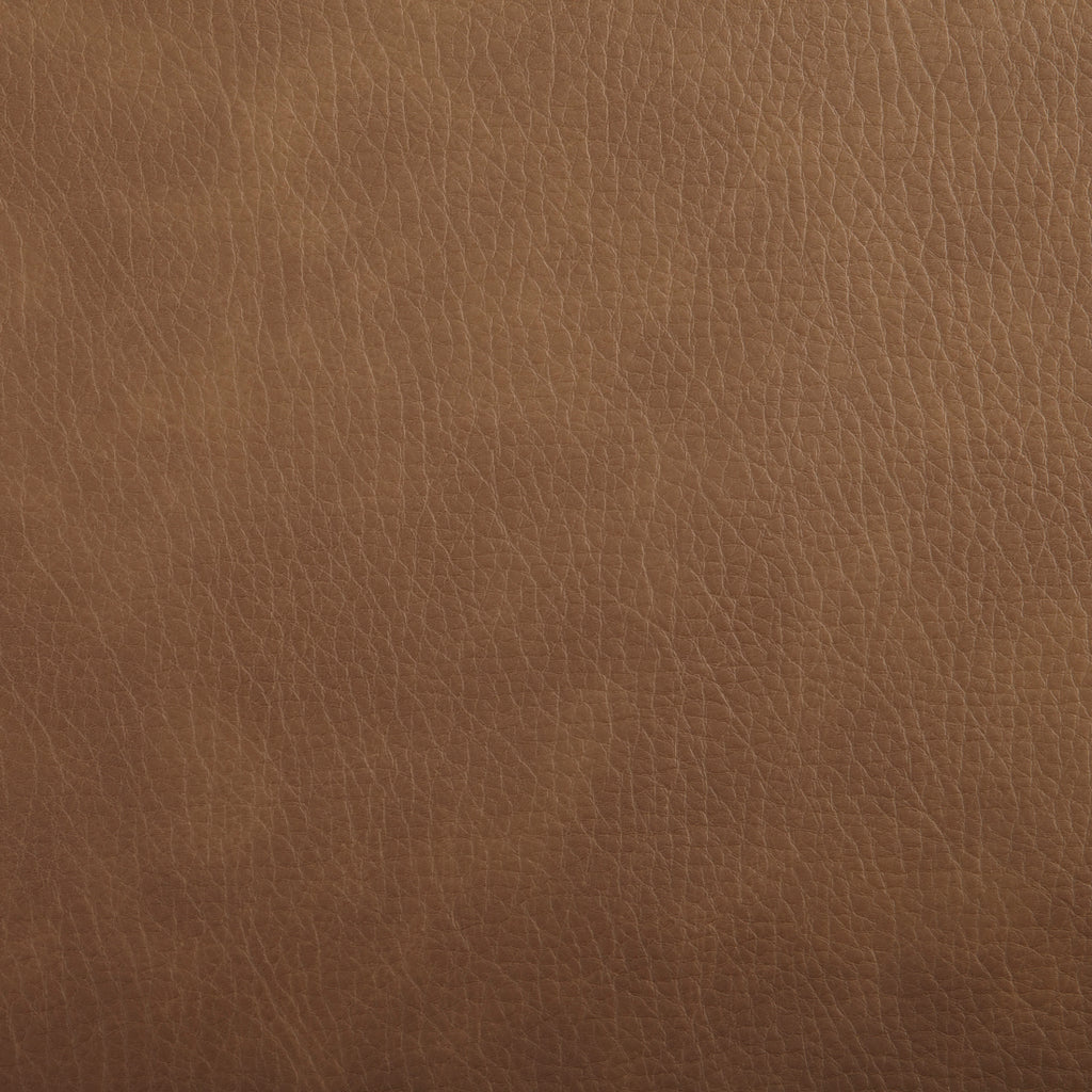 Mojave Brown Leather Grain Plain Solid Vinyl Upholstery Fabric