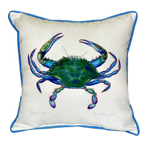 Blue Crab - Male Extra Large Zippered Indoor or Outdoor Pillow 22x22