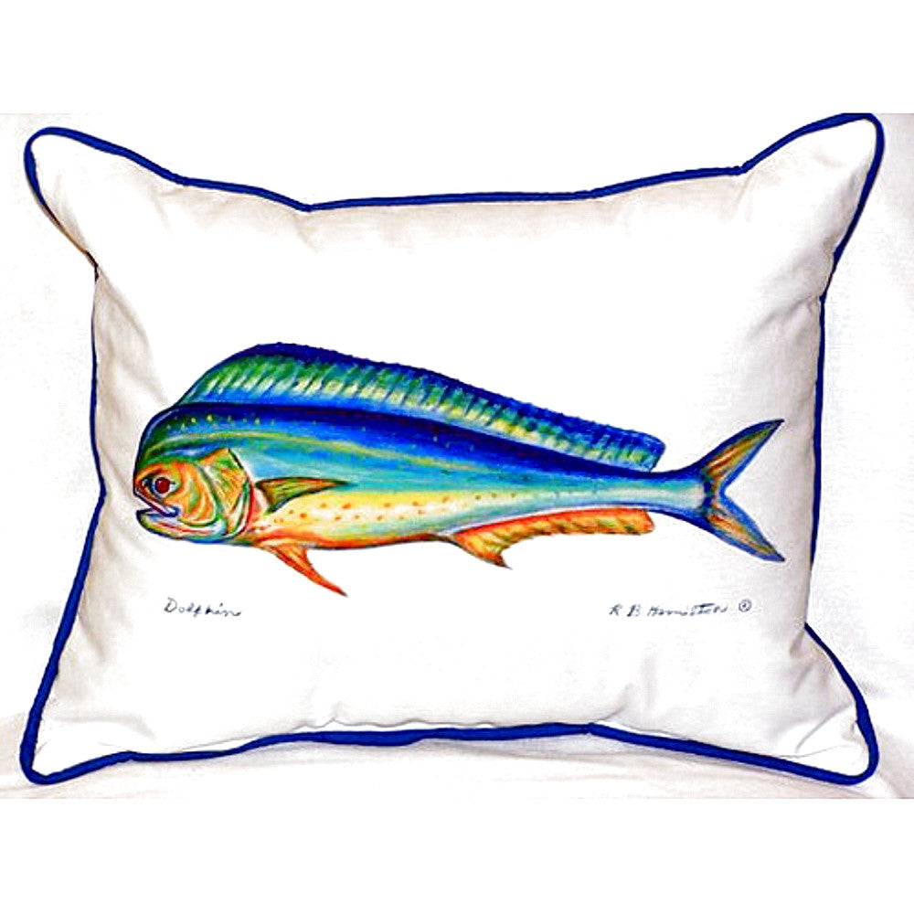 Dolphin Extra Large Zippered Indoor or Outdoor Pillow