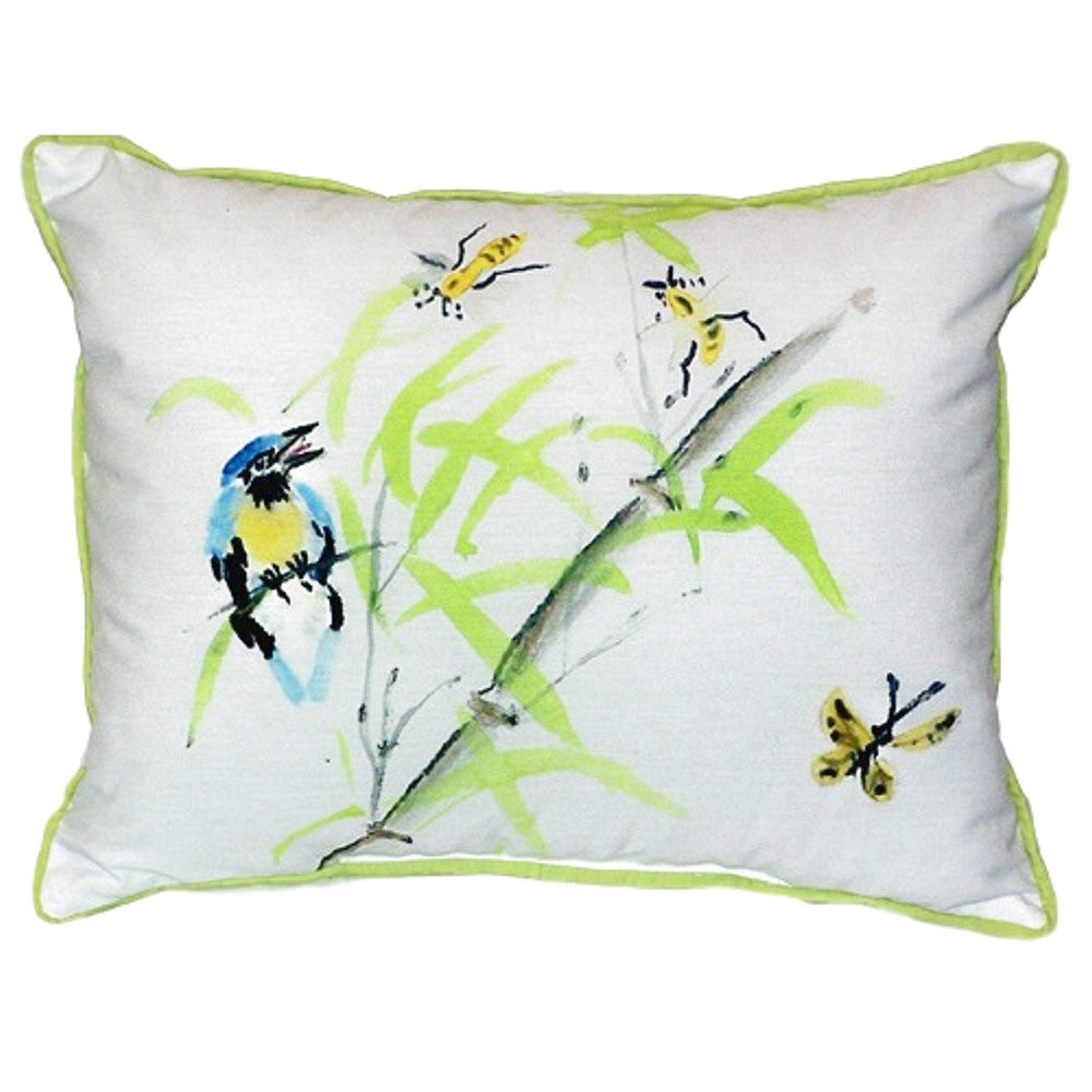 Birds & Bees II Extra Large Zippered Indoor or Outdoor Pillow 20x24