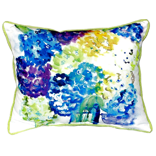 Hydrangea Extra Large Zippered Indoor or Outdoor Pillow 20x24