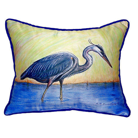 Blue Heron Extra Large Zippered Indoor or Outdoor Pillow 20x24