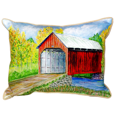Covered Bridge Extra Large Zippered Indoor or Outdoor Pillow 20x24