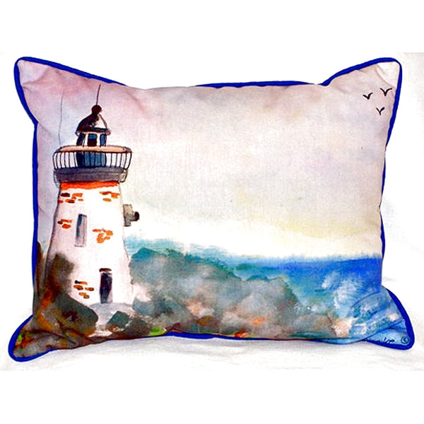 Light House Extra Large Zippered Indoor or Outdoor Pillow 20x24