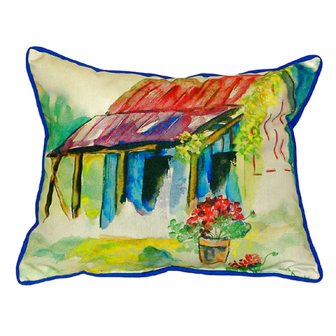 Barn & Geranium Extra Large Zippered Indoor or Outdoor Pillow