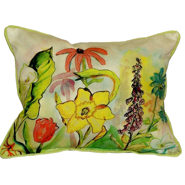 Garden Extra Large Zippered Indoor or Outdoor Pillow