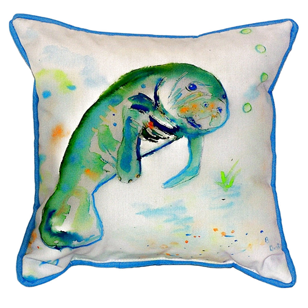 Manatee Extra Large Zippered Indoor or Outdoor Pillow 22x22
