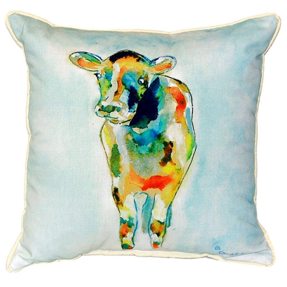 Cow Extra Large Zippered Indoor or Outdoor Pillow 22x22