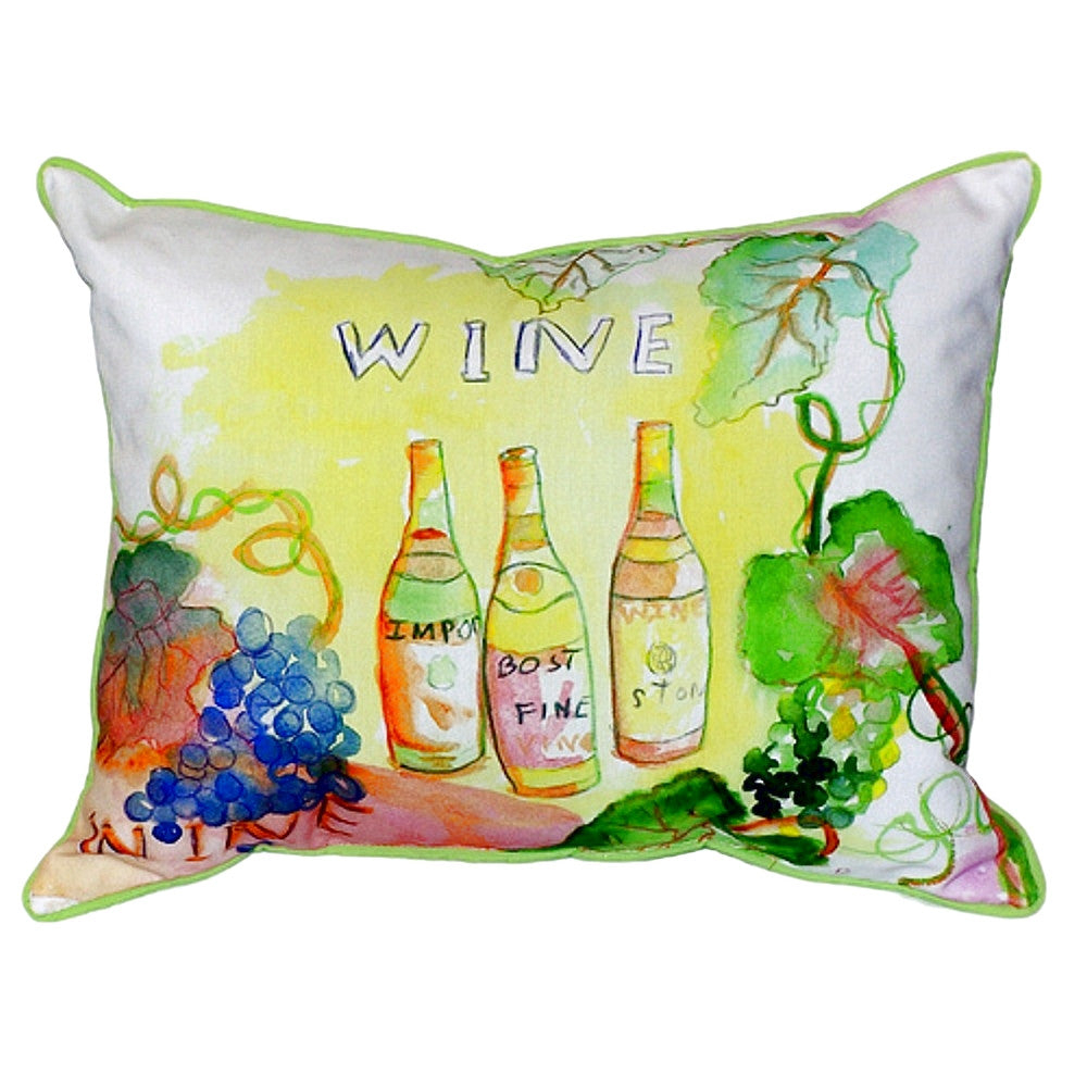 Wine Bottles Extra Large Zippered Indoor or Outdoor Pillow 20x24