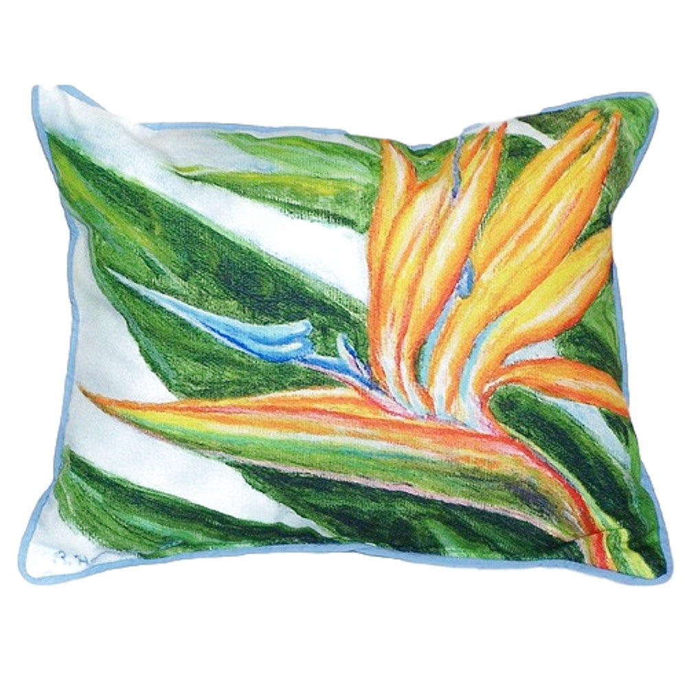 Bird of Paradise Extra Large Zippered Indoor or Outdoor Pillow 20x24