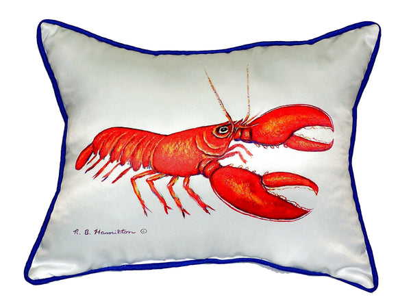 Red Lobster Extra Large Zippered Indoor or Outdoor Pillow