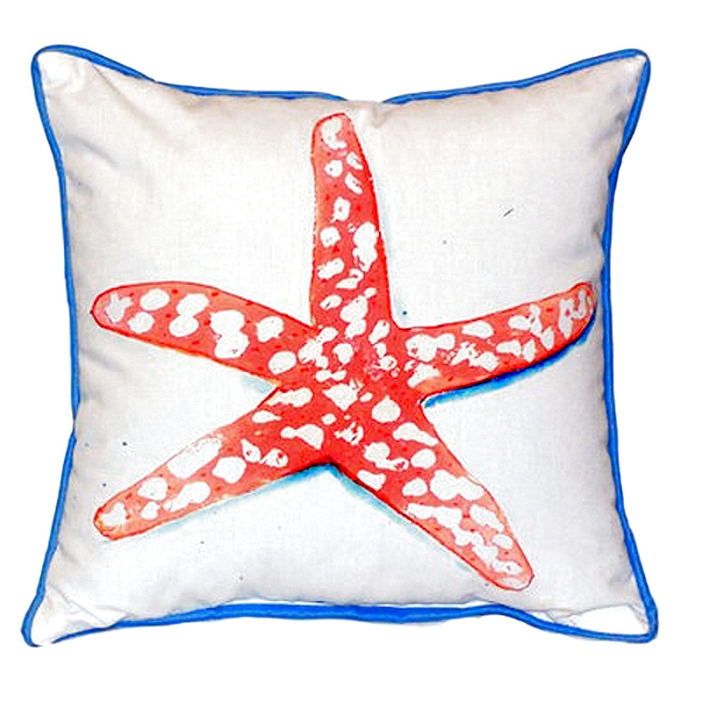 Coral Starfish Extra Large Zippered Indoor or Outdoor Pillow