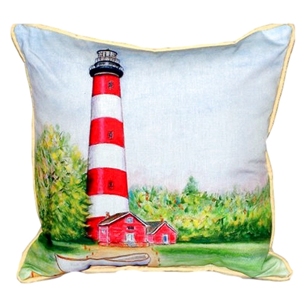 Chincoteague Lighthouse VA Extra Large Zippered Indoor or Outdoor Pillow
