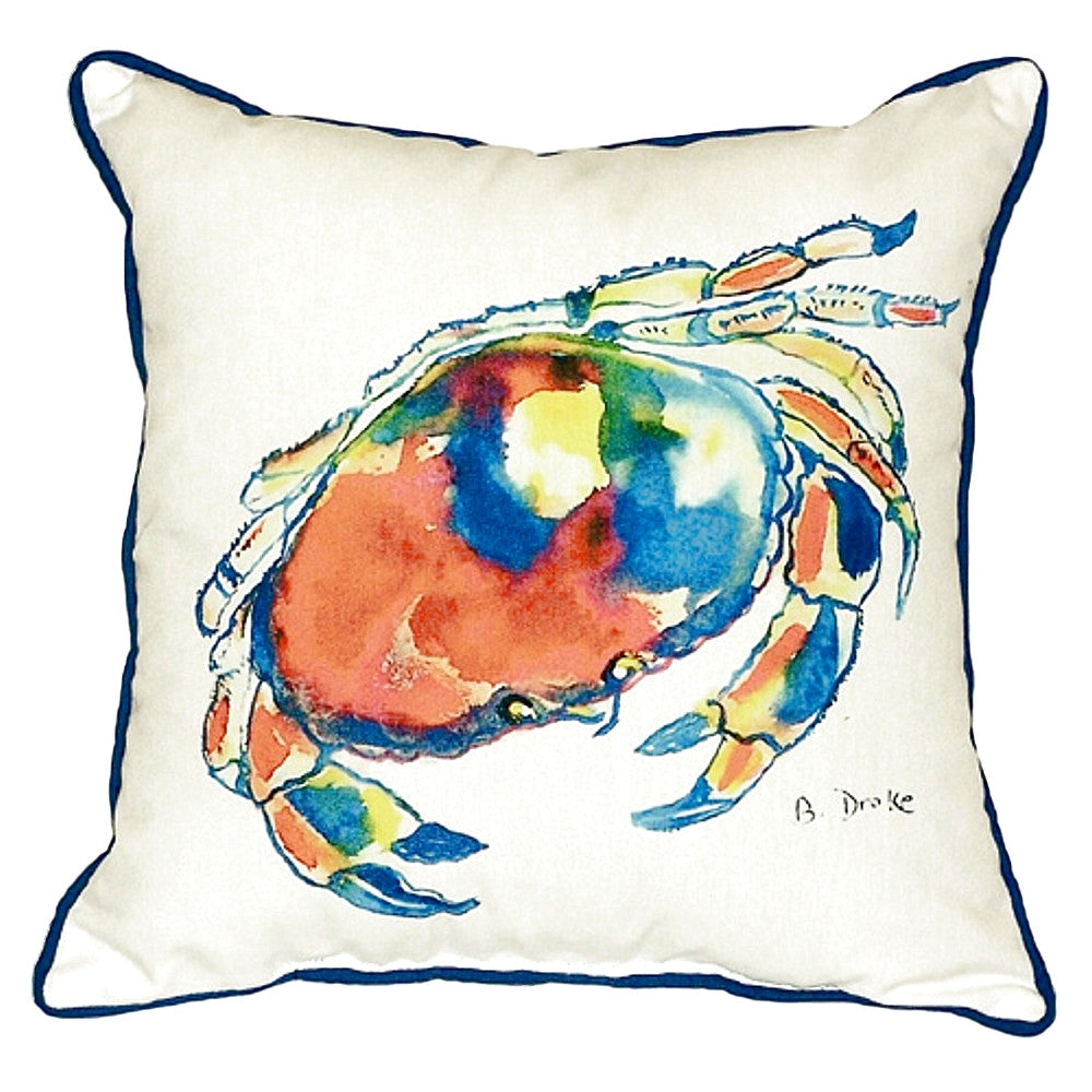 Dungeness Crab Extra Large Zippered Indoor or Outdoor Pillow